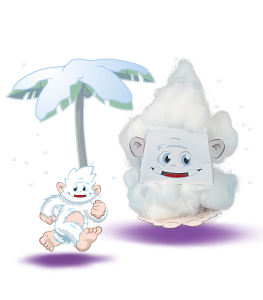The Yeti and a crafted Yeti figure