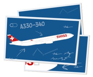 The aircrafts of the SWISS fleet