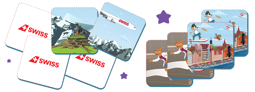 Quelques cartes de la SWISS Kids Memory
